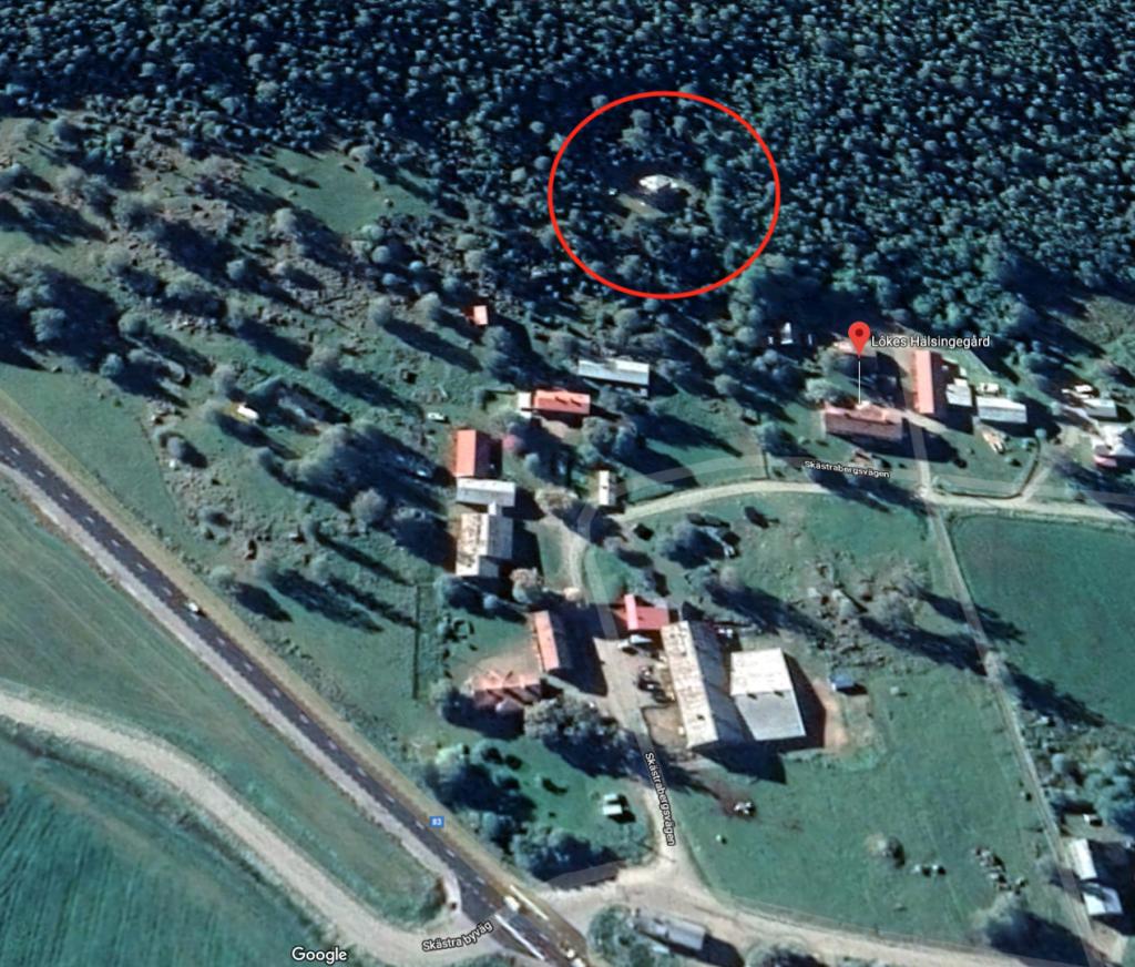 Karta Eldpallkojan, Örnnästet i Skästra